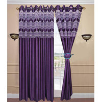 Deal Wala Pack Of 2 Designer Tissue Door Curtain {dtsl995}