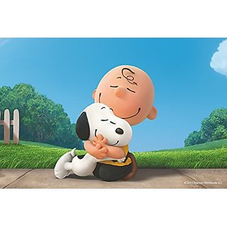 Peanuts MH-PNTS-232-C-30 Buddy Hug Painting Print on Wrapped Canvas, Multicolor, 30