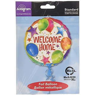 Anagram International 843301 Welcome Home Balloons & Stars Foil Balloon Pack, 18