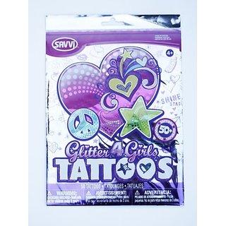 Savvi Set of 50 Temporary Tattoos, Glitter