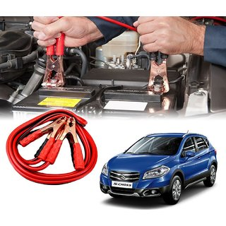 AUTOTRUMP - Car 500 Amp Heavy Duty Jumper Booster Cables Anti Tangle Copper Core 6ft For - Maruti Suzuki S Cross