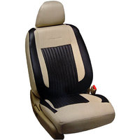 Hi Art Beige & Black Leatherite Seat Cover For Safari Storm