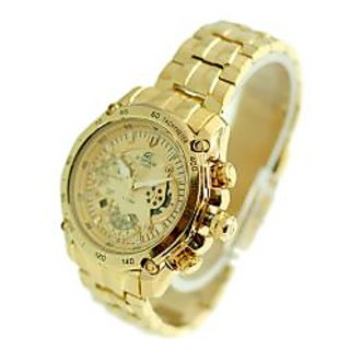 CASIO EDIFICE EF-550FG-1AV-7AV FULL GOLD WATCH JUST FOR MEN