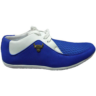 Unisex Casual Shoes in Blue and White finish