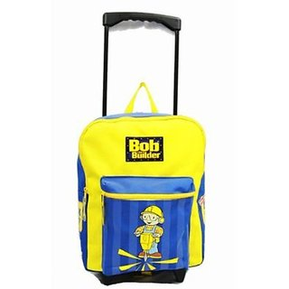 Bob the Builder Large Rolling Backpack Kids Luggage