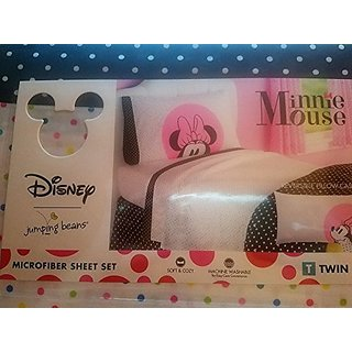 Disney Minnie Mouse Dots are the New Black Twin Full Bedding Sheet Set