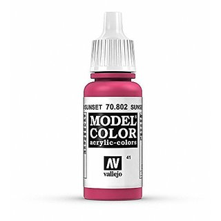 Vallejo Sunset Red Paint, 17ml