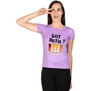 LetsFlaunt Got Beer T-shirt Girls Light Purple Dry-Fit-X-Small Nw