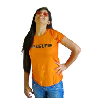 LetsFlaunt #Selfie T-shirt T-shirt Girls Orange Dry-Fit-X-Small Nw