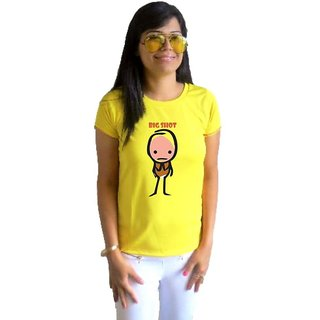 LetsFlaunt Big Shot T-shirt T-shirt Girls Yellow Dry-Fit-X-Small Nw