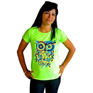 LetsFlaunt Green Round Neck Half Sleeve Casual Shirts