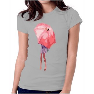 LetsFlaunt Lovely umbrella girl grey T-shirt Dry-Fit-X-Small Nw