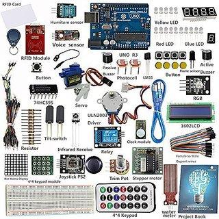 SunFounder RFID Starter Kit for Arduino Uno R3 Mega Nano Circuit Board Jumper Wires Sensors Breadboard Electronics V1.0