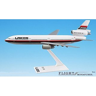 Laker Airways DC-10 Airplane Miniature Model Plastic Snap-Fit 1:250 Part# ADC-01000I-017