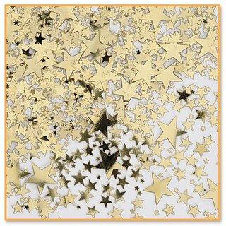 Beistle CN071 Gold Stars Confetti, 1 2-Ounce