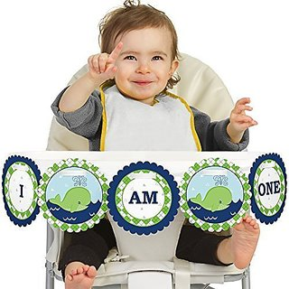 Tale Of A Whale - First Birthday High Chair Banner