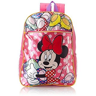 Disney Little Girls Minnie Mouse Backpack, Pink, One Size