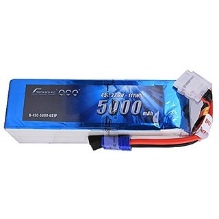 Gens ace LiPo Battery Pack 5000mAh 45C 6S 22.2V with EC5 Plug for 500 600 Helicopter