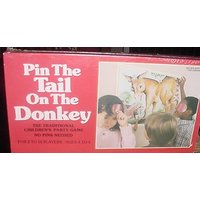 PIN THE TAIL ON THE DONKEY 1981 NEW UNOPENED GAME