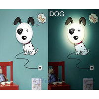 Rc Tots 3D Dog Night Lamp Wall Sticker