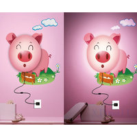 Rc Tots 3D Piggy Night Lamp Wall Sticker