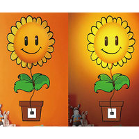 Rc Tots 3D Sunflower Night Lamp Wall Sticker