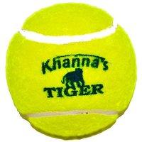 Khanna Tiger Cricket Tennis Balls ( Yellow Pack of 6)