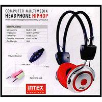 Intex HIPHOP Hi-Fi Stereo Headphone With Mic & Volume Control