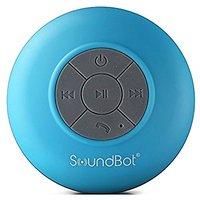 SoundBot SB510 HD Water Resistant Bluetooth 3.0 Shower Speaker, Handsfree Portable Speakerphone with Built-in Mic, 6hrs
