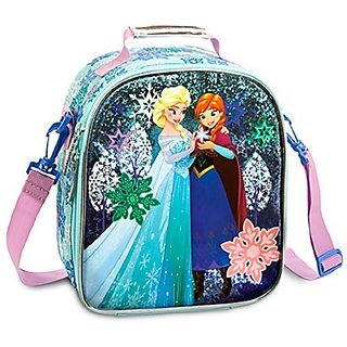 Disney Store Frozen Elsa Anna Lunch Box Tote Bag