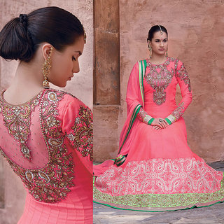 Ishi Maya Statuesque Pink Floor Touch Anarkali