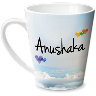 Hot Muggs Simply Love You Anushaka Conical Ceramic Mug 350ml