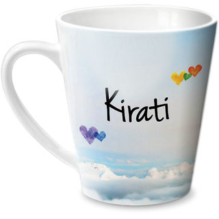 Hot Muggs Simply Love You Kirati Conical Ceramic Mug 350ml