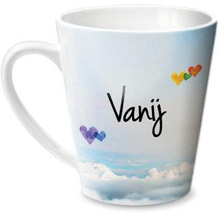 Hot Muggs Simply Love You Vanij Conical Ceramic Mug 350ml