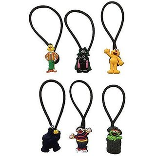 Sesame Street Hairband Ponytail Holder 6 Pcs Set #1