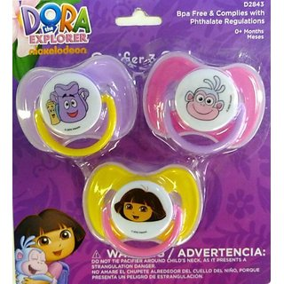 Dora the Explorer 3-pack Baby Pacifiers
