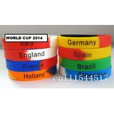 2014 Brazil World Cup Football Souvenir Bracelet Silicone Silicon Gel Wristband