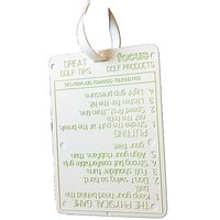Focus Golf Products Bag Tag with Pro Tips
