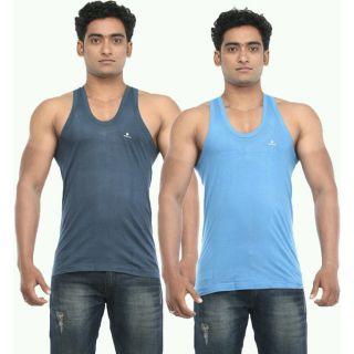 Multi color vests pack of 2