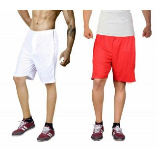 Red and white gym shorts