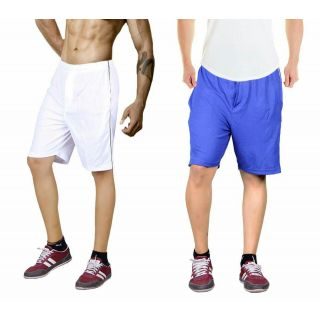 White and blue gmy shorts