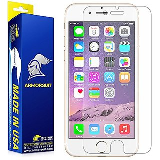 iPhone 7 Anti-Glare Screen Protector, ArmorSuit MilitaryShield Lifetime Replacements - Full Coverage Anti-Bubble Matte S