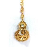 Golden Flower Maang Tikka
