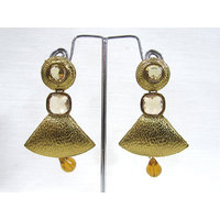 Antic Golden Drop Earring