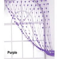 Deal Wala Designer Heart Curtain-purple