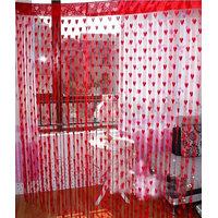 Deal Wala Designer Heart Curtain-red