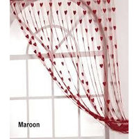 Deal Wala Designer Heart Curtain-maroon