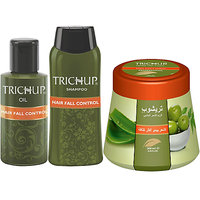Trichup Anti - Hair Loss Treatment Kit (Hair Fall Control Oil (200ml), Hair Fall Control Shampoo (200ml), Hair Fall Cont
