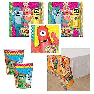 Yo Gabba Gabba Party Pack, 16 guests, cake plates, napkins, cups, tablecover
