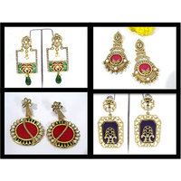 Combo Offer of 4 Pair Of Earrings